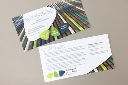 Corporate Design   Flyer Therapiezentrum Gößweinstein