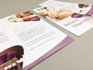 Corporate Design | Flyer Therapiezentrum