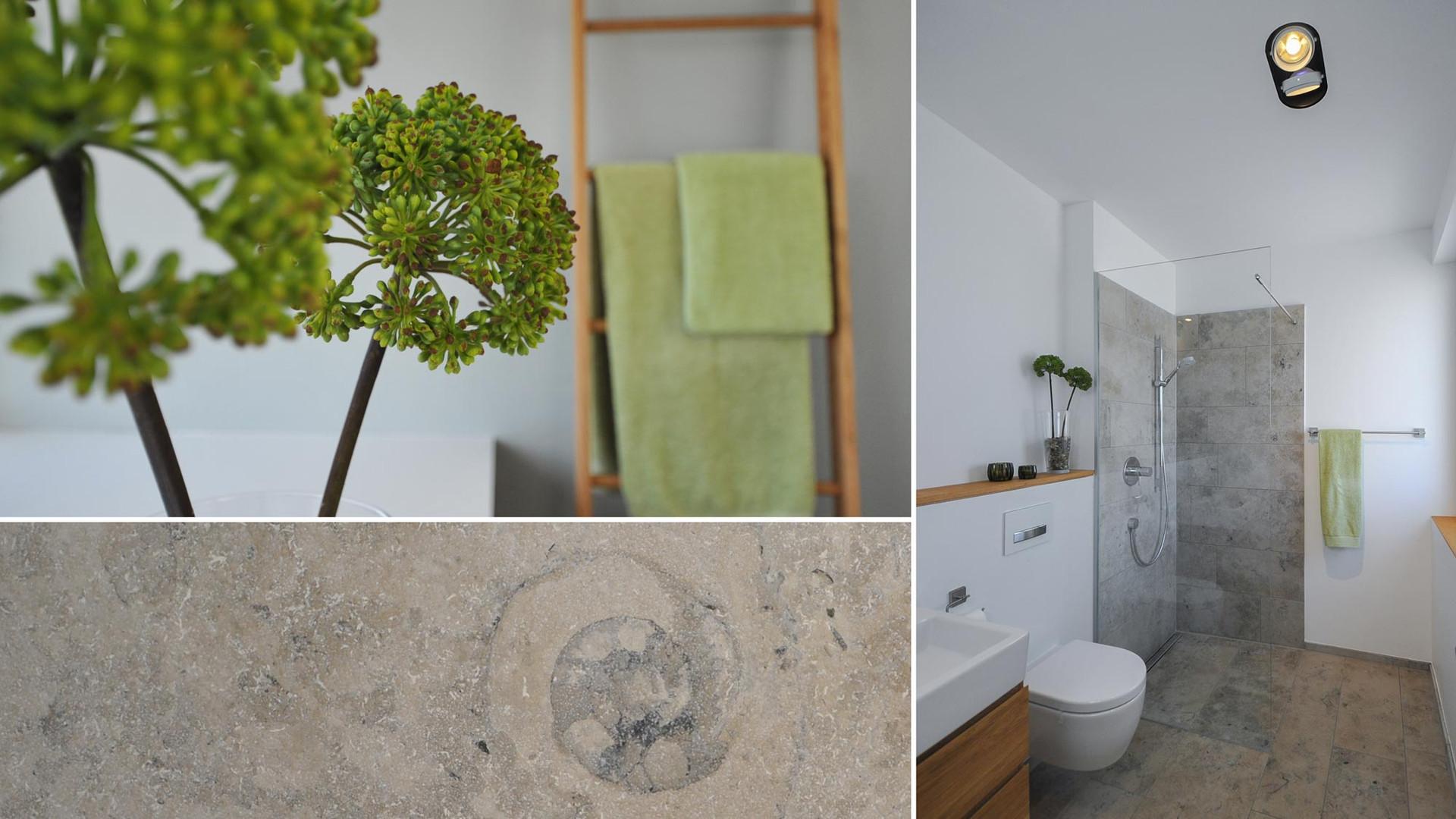 Gäste-WC mit Natursteinbelag