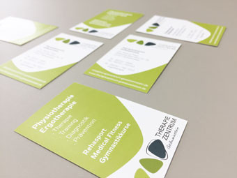 Corporate Design | Visitenkarten Therapiezentrum Gößweinstein