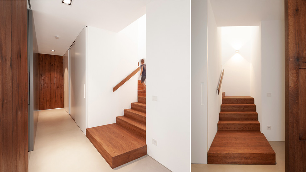 Treppe aus Altholzeiche
