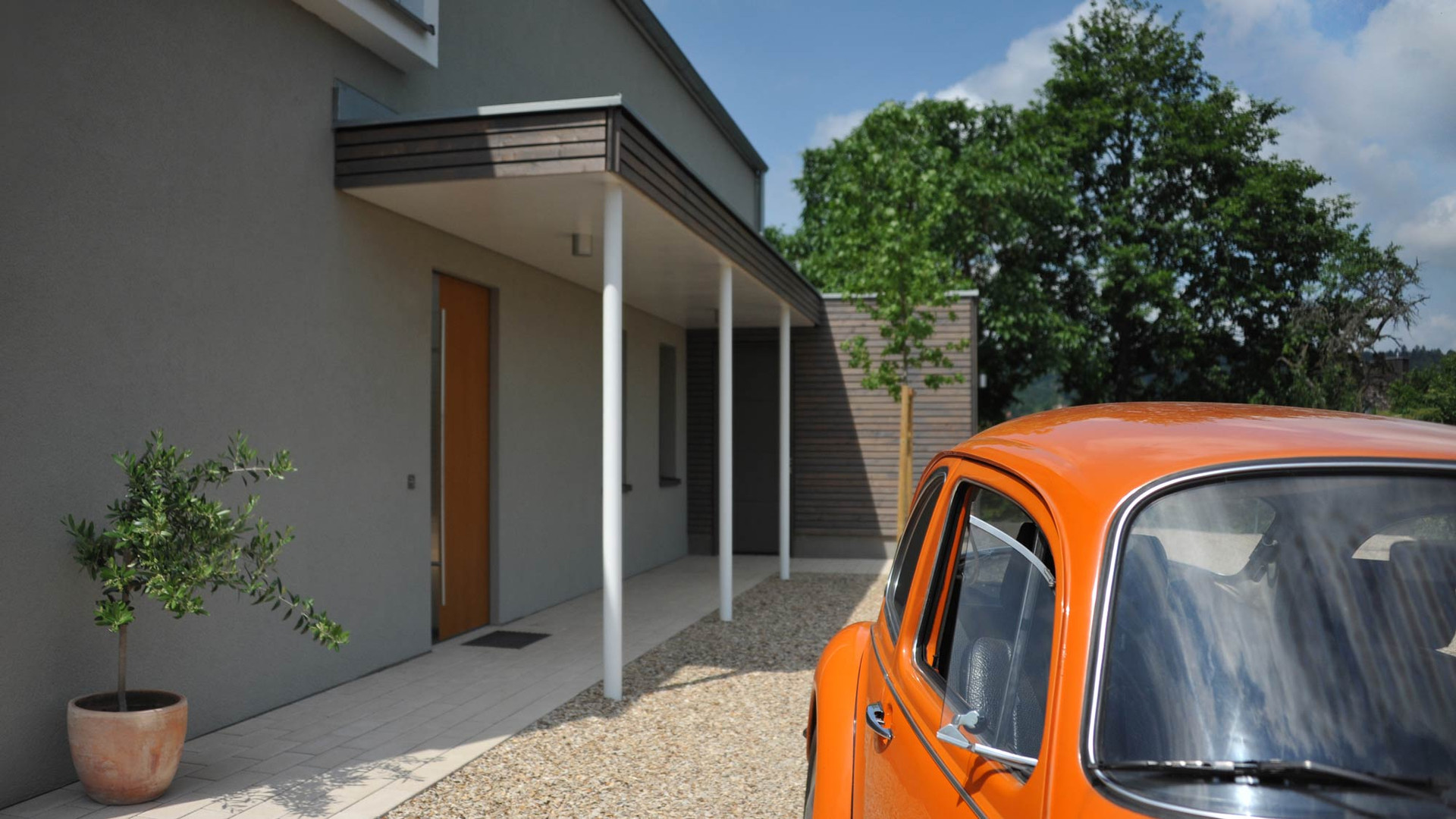 Modernes Einfamilienhaus auf dem Land