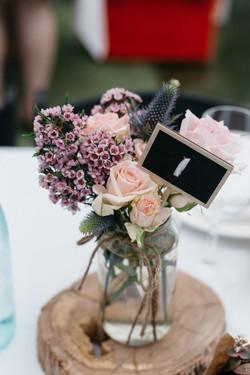 flowers of envy wedding jars