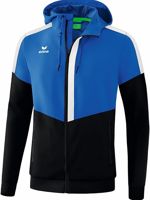 Veste à capuche Tracktop bleu/noir