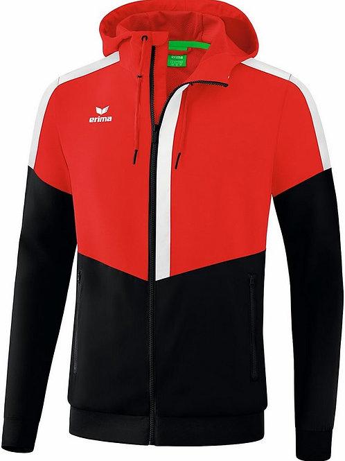 Veste à capuche Tracktop Rouge/Noir