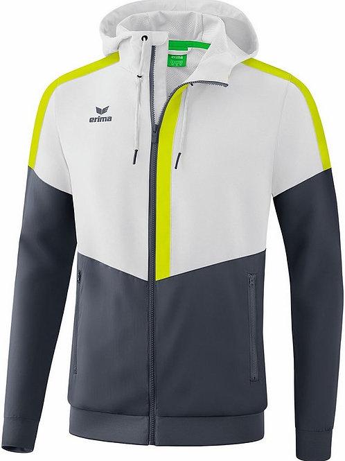 Veste à capuche Tracktop Blanc/Gris/Lime