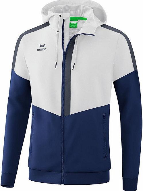 Veste à capuche Tracktop Blanc/Bleu