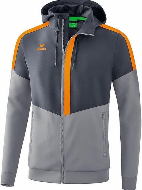 Veste à capuche Tracktop gris/orange