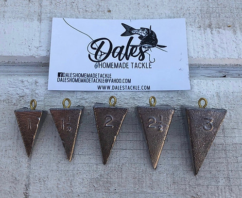 5 Pack of Pyramid Sinkers
