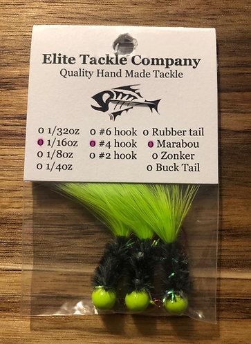 Elite Tackle Jigs(Lime Green & Dark Green)