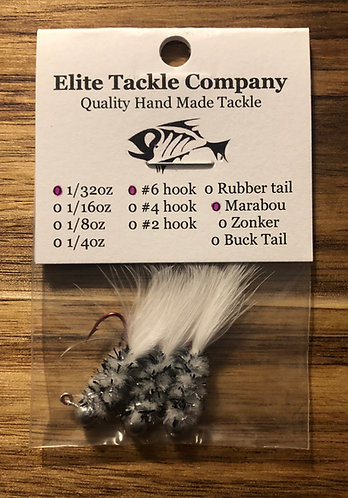 Elite Tackle Jigs(Silver & White)