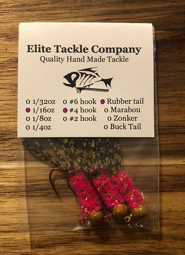Elite Tackle Jigs(Gold & Pink)