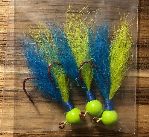 Elite Tackle Jigs(Lime Green / Blue)