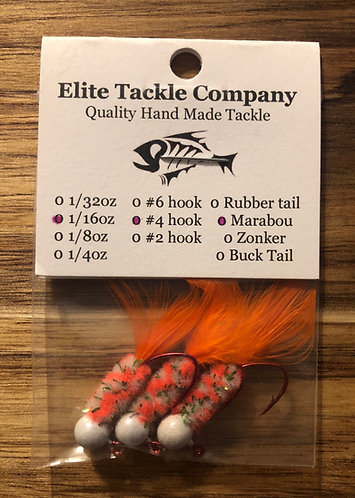 Elite Tackle Jigs(White & Orange)