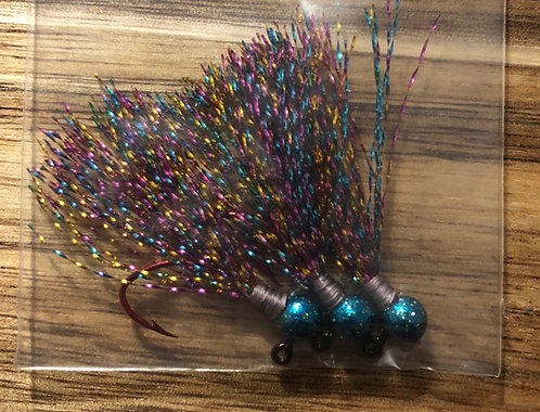 Elite Tackle Jigs(Teal & Glitter)