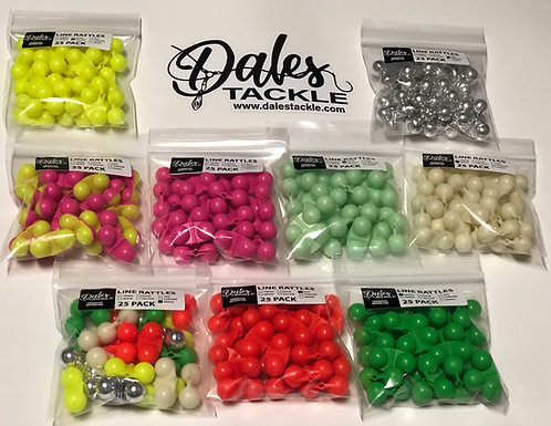 Colored Line Rattles(5, 25 or 50 Pack)