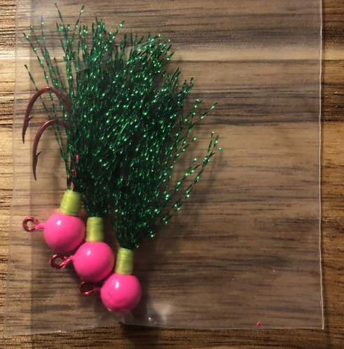 Elite Tackle Jigs(Pink & Green)