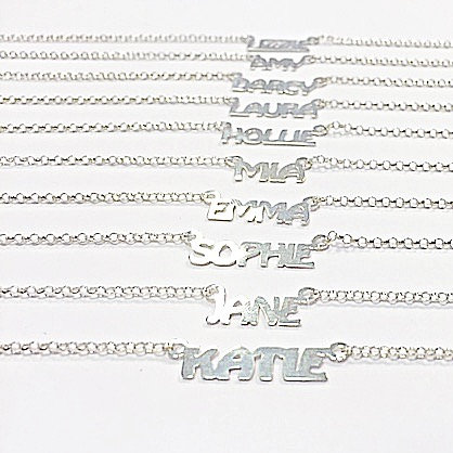 NEW MINI NAME NECKLACE SILVER