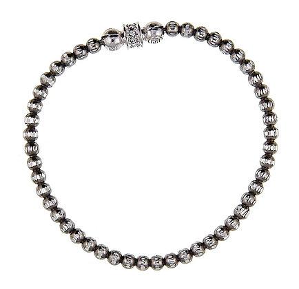 Silver Crystal Bead