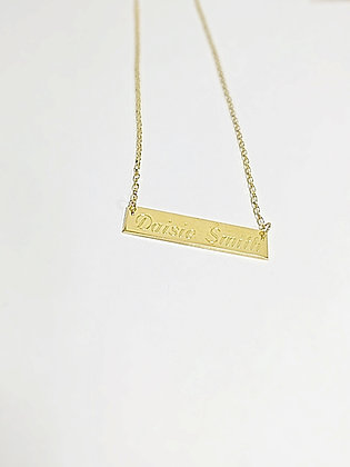 Gold Plated Name Plate Necklace