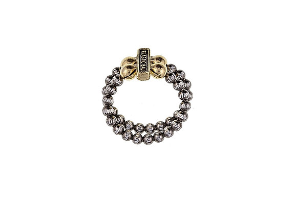 Gold And Silver Two Strand Ring