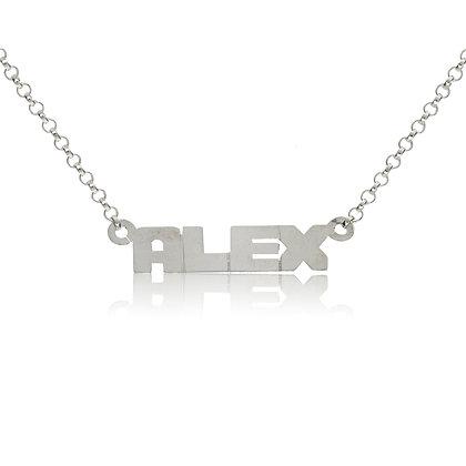 Micro Block Name Necklace