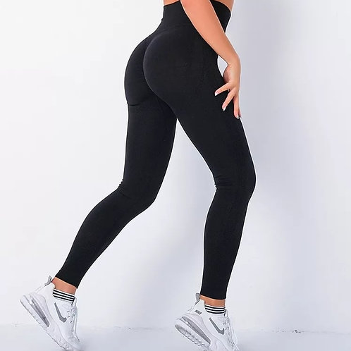 Plus Size Scrunch Bum Leggings - Black