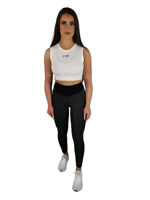 Cropped Vest Top - White