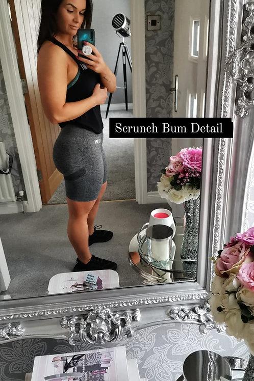 Scrunch Bum Shorts - Grey Marl