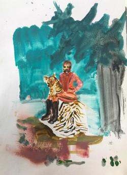 men and beasts - tiger cub