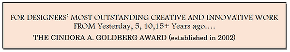 Capture Cindora Goldberg Award heading.P
