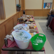 Food set up for April's orchid fundraise