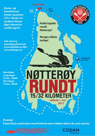 Tønsberg Kajakk Klubb inviterer til Nøtterøy rundt 2017