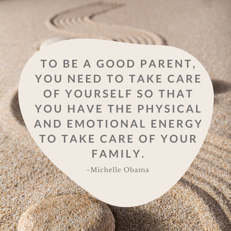 Michelle Obama quote regarding self care to care for others