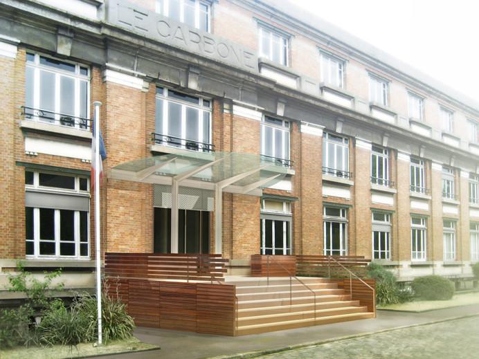 Aménagement extérieur d'un hall
