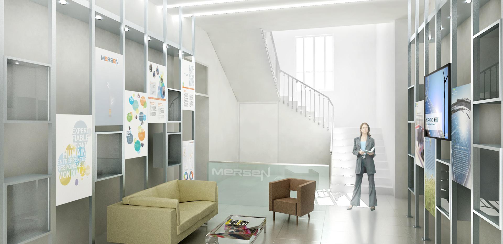 Aménagement intérieur d'un hall