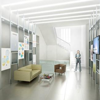 aménagement intérieur d'un hall Mersen