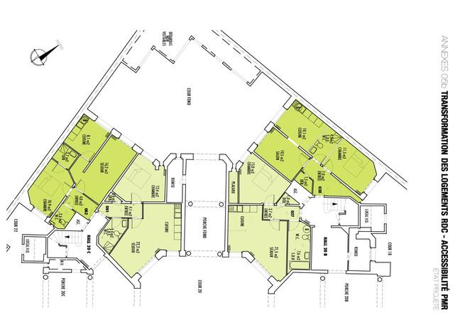 Plan des appartements adaptés