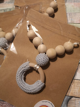 Teething/fiddle necklace