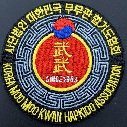 Korea Moo Moo Kwan Hapkido Associationembroidered patch colour