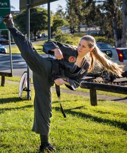 Rebekah high kick
