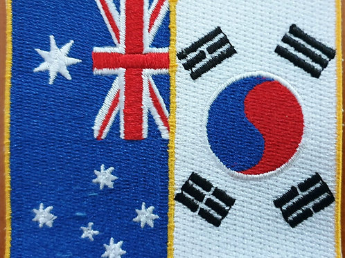 Australia/South Korea flags patch