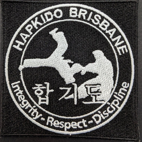 Hapkido Brisbane B&W embroidered patch