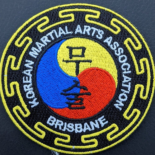 Korean Martial Arts Association of Brisbane embroidered patch Colour