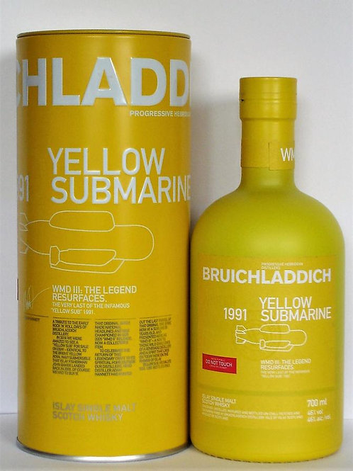 Bruichladdich WMD III Yellow Submarine 1991 25 Years Old