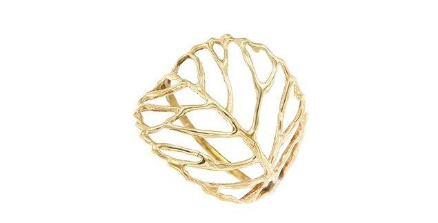 Wire Leaf Ring