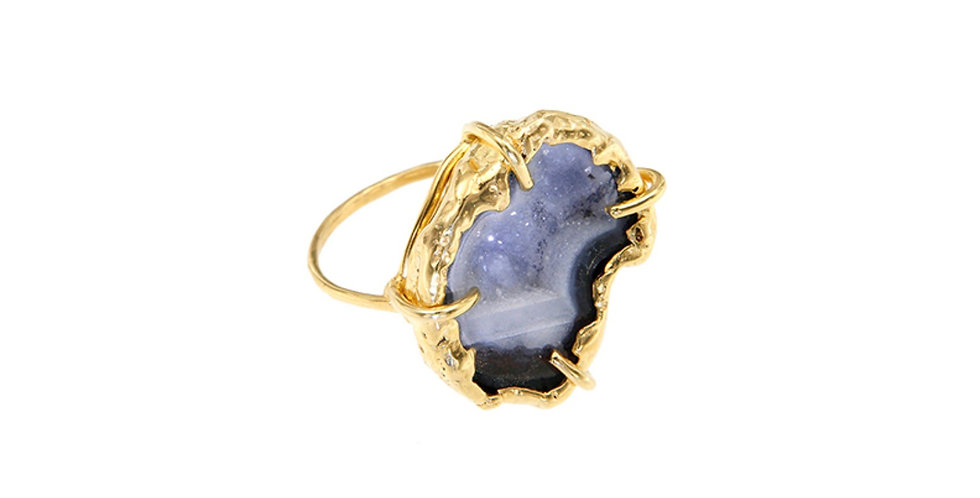 Agate Crater Ring