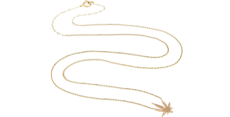 Mini MJ Leaf Necklace