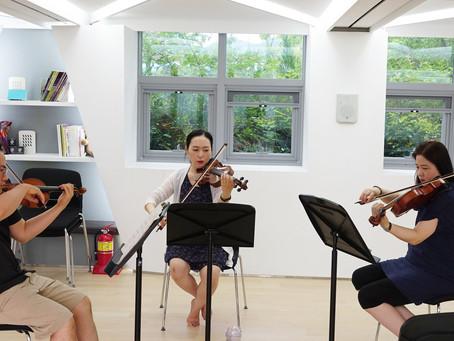 '올웨이코리아' 오케스트라팀 연습