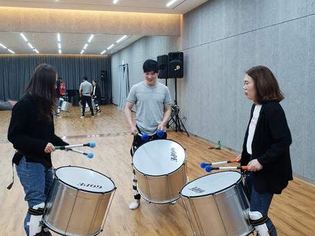 브라질 타악팀 '블로꾸아미구' 정기연습